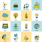 Eco energy icons set — Stock Vector #56823637
