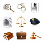 Law Legal Icons Set — Stock Vector