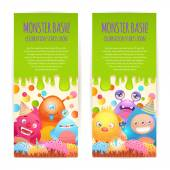 Monsters vertical banners — ストックベクタ