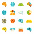 Brain icons flat — Stock Vector #57247143