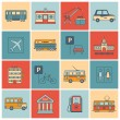 City Infrastructure Icons — Stock Vector #57247413