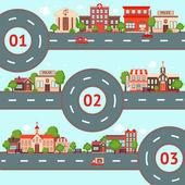 City infographics set — Stock Vector