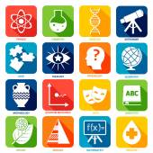 Science Areas Icons — Stock Vector