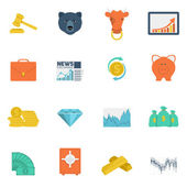 Finance exchange icons flat — Stock Vector