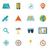 Navigation icon flat set — 图库矢量图片