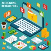 Accounting infographics set — Stock Vector