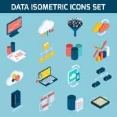 Data analysis icons — Stock Vector