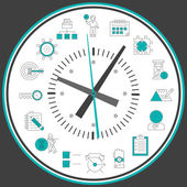 Time management clock — Stock Vector