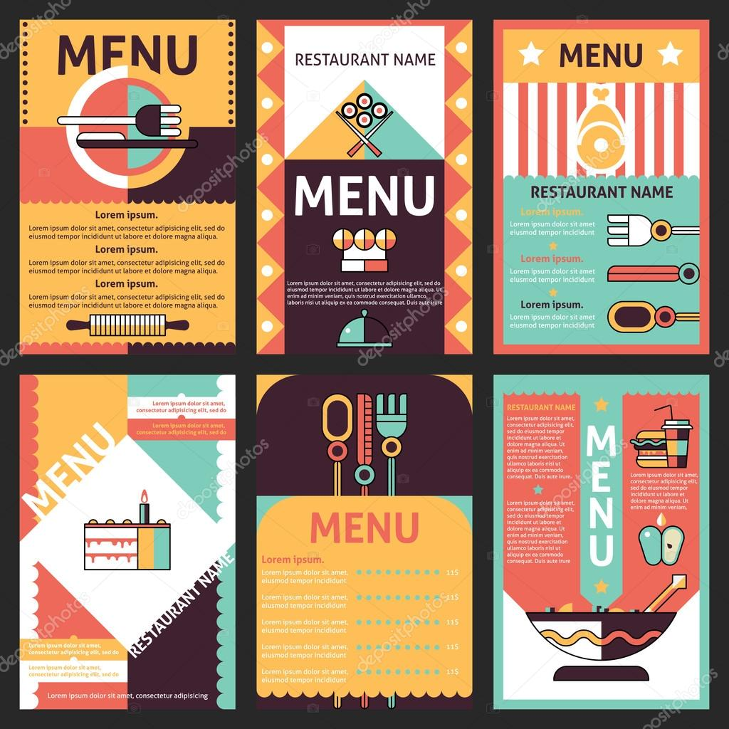 Dise Os De Menus Restaurante Vector De Stock