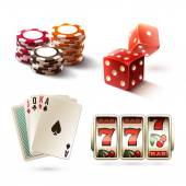 Casino design elements — Stock Vector