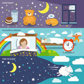 Sleep time banners — Stock Vector