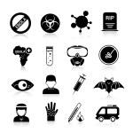 Ebola virus icons — Stock Vector #57486713