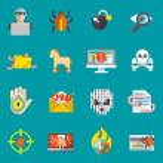 Hacker icons flat set — Stock Vector #57486341