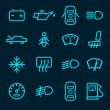 Car dashboard icons — Stock Vector #57486525