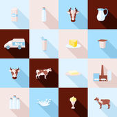 Milk icons set — Stock Vector