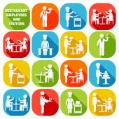 Restaurant employees white — Stock Vector