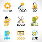 Settings logo set — Stock Vector