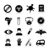 Ebola virus icons — Stock Vector
