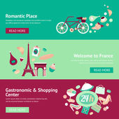 France banner set — Stock Vector