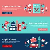 England banner set — Stock Vector