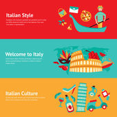 Italy banner set — Stock Vector