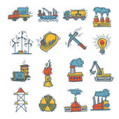Industrial sketch icon set — Vector de stock
