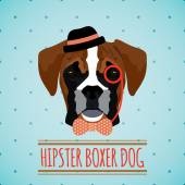 Hipster dog portrait — Stock Vector