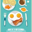 Breakfast icon poster — Stock Vector #57801095
