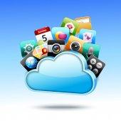 Cloud 3d storage — Stok Vektör