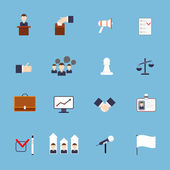 Elections icons set flat — Stock Vector