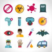 Ebola virus icons — Stock Vector