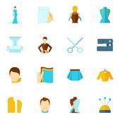Clothes designer icon flat — Stock Vector