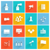 Elections icons white set — Stock Vector