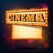 Retro cinema sign — Stock Vector