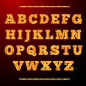 Lamp light alphabet — Vector de stock