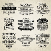 Success quotes set — Stock Vector