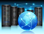 Concept de réseau global — Vecteur