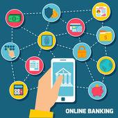 Online banking concept — Stock Vector