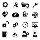 Settings icons black — Stock Vector