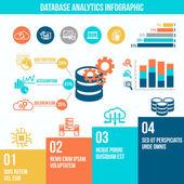 Database analytics infographics — Stockvektor