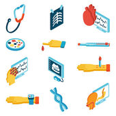 Medical isometric icons — Stock Vector