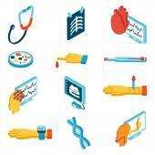 Medical isometric icons — ストックベクタ