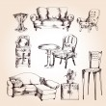 Furniture sketch set — Stock Vector #58345831