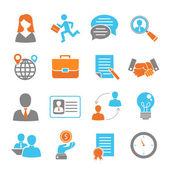 Job interview colored set — Stock Vector