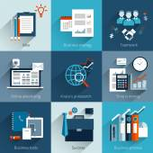 Business concepts set — Stock Vector