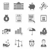 Tax icons set — Stock Vector