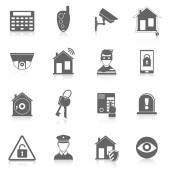 Home security icons — Stock Vector