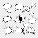 Comic set bubbles — Stock Vector #58774399