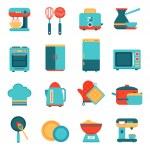 Постер, плакат: Kitchen appliances icons set
