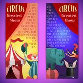 Circus banner vertical — Stock Vector